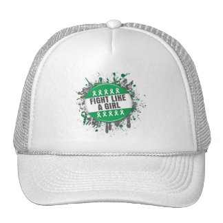Fight Like a Girl Cool Button - Liver Cancer Mesh Hats