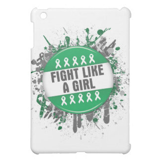 Fight Like a Girl Cool Button - Liver Cancer iPad Mini Cover