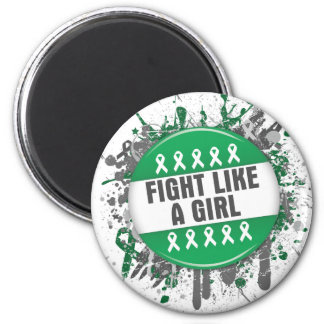 Fight Like a Girl Cool Button - Liver Cancer Refrigerator Magnets