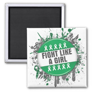 Fight Like a Girl Cool Button - Liver Cancer Fridge Magnet