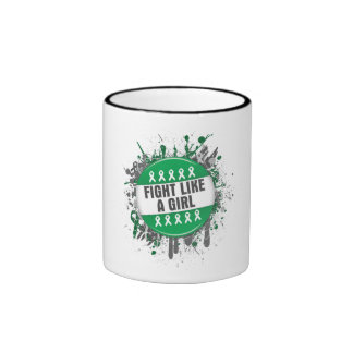 Fight Like a Girl Cool Button - Liver Cancer Coffee Mug
