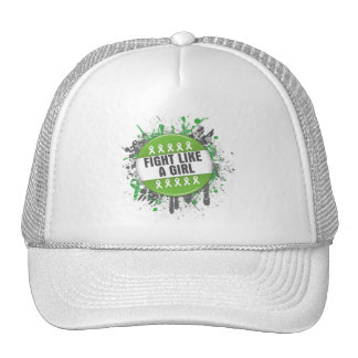 Fight Like a Girl Cool Button - Lymphoma Trucker Hat