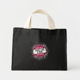 Fight Like a Girl Cool Button - Multiple Myeloma Mini Tote Bag