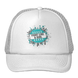 Fight Like a Girl Cool Button - PCOS Cap