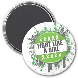 Fight Like a Girl Cool Non-Hodgkin s Lymphoma Magnets