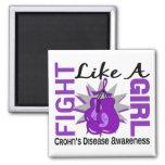 Fight Like A Girl Crohn's Disease 8.3 Refrigerator Magnet