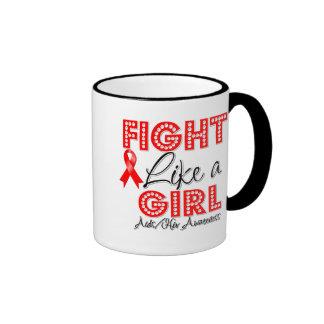 Fight Like a Girl Dazzling - AIDS Mugs