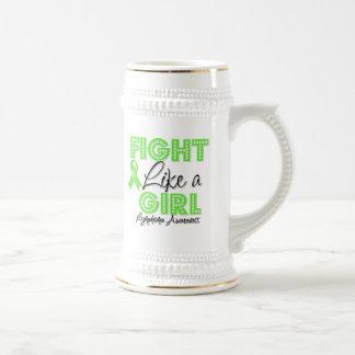 Fight Like a Girl Dazzling - Lymphoma Mugs