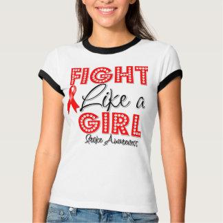 Fight Like a Girl Dazzling - Stroke Awareness Shirt