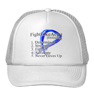 Fight Like a Girl Definition - Anal Cancer Trucker Hats