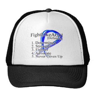 Fight Like a Girl Definition - Anal Cancer Mesh Hat