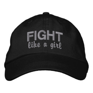 Fight Like A Girl Diabetes Embroidered Baseball Caps