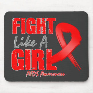 Fight Like A Girl Distressed AIDS Mouse Pad