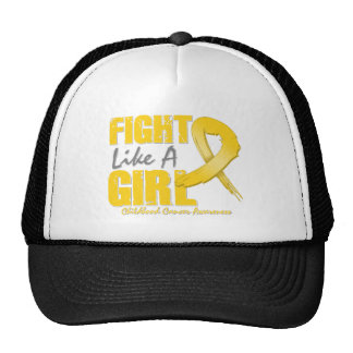Fight Like A Girl Distressed Childhood Cancer Cap