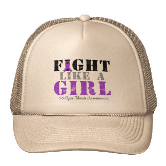 Fight Like a Girl Distressed - Cystic Fibrosis Cap