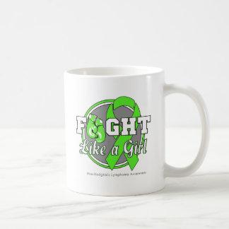 Fight Like a Girl Gloves - NonHodgkins Lymphoma Basic White Mug