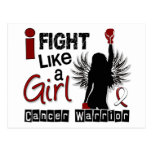 Fight Like A Girl Head Neck Cancer 26.2 Post Cards