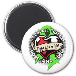 Fight Like a Girl Heart - Non Hodgkin s Lymphoma Magnets