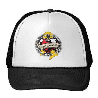Fight Like a Girl Heart Ribbon - Childhood Cancer Cap