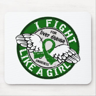 Fight Like A Girl Liver Disease 16 5 Mousepads