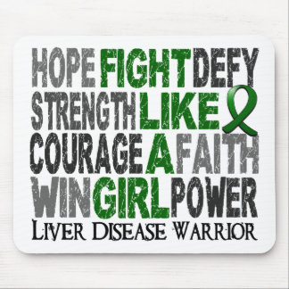 Fight Like A Girl Liver Disease 23 4 Mousepads