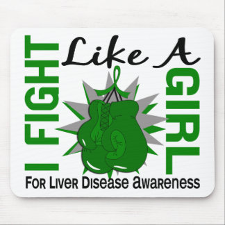 Fight Like A Girl Liver Disease 8 5 Mouse Pad