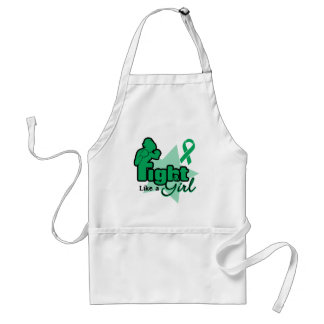 Fight Like a Girl - Liver Disease Adult Apron