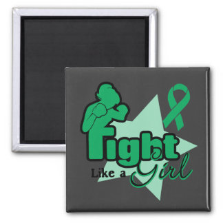 Fight Like a Girl - Liver Disease Square Magnet