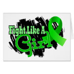 Fight Like A Girl Lyme Disease 17.8 Greeting Card