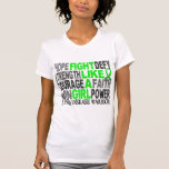 Fight Like A Girl Lyme Disease 23.4 Tee Shirts
