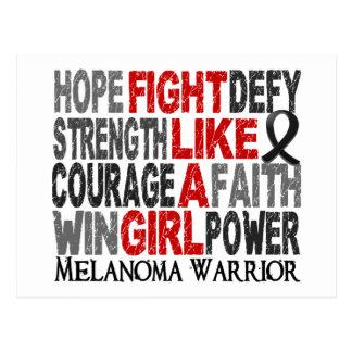 Fight Like A Girl Melanoma 23 4 Post Card