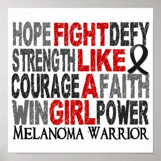 Fight Like A Girl Melanoma 23 4 Poster