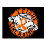 Fight Like A Girl Multiple Sclerosis 16.5 Postcard