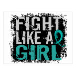 Fight Like a Girl Ovarian Cancer 31.8 Post Cards