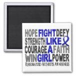 Fight Like A Girl Rheumatoid Arthritis 23.3 Fridge Magnets