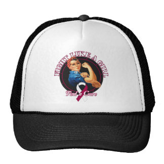 Fight Like a Girl Rosie Riveter - Throat Cancer Trucker Hat