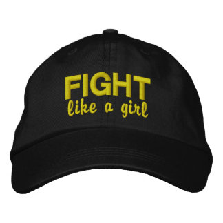 Fight Like A Girl Sarcoma Embroidered Baseball Cap