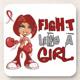 Fight Like a Girl Sickle Cell Disease 42 8 png Drink Coasters