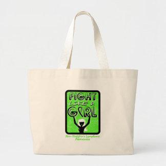 Fight Like A Girl Sign Non-Hodgkin's Lymphoma Canvas Bag
