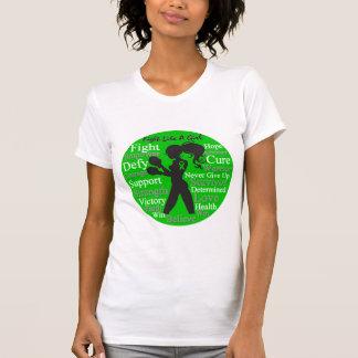 Fight Like a Girl Silhouette TBI Awareness T-shirt