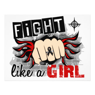 Fight Like A Girl Skin Cancer 27 8 Personalized Flyer