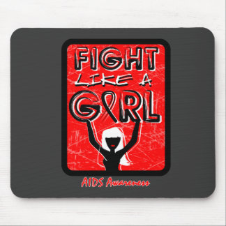 Fight Like A Girl Slogan Sign AIDS Mouse Pad