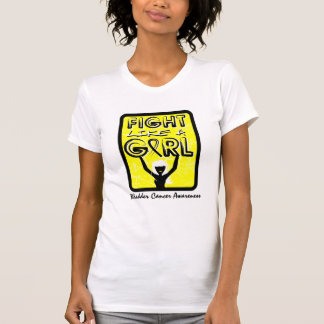 Fight Like A Girl Slogan Sign Bladder Cancer Tank Top
