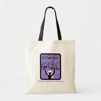 Fight Like A Girl Slogan Sign Hodgkin's Lymphoma Bag