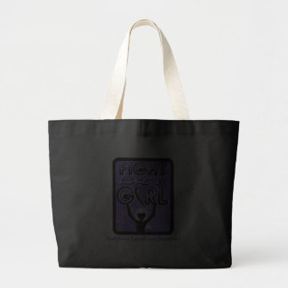 Fight Like A Girl Slogan Sign Hodgkin's Lymphoma Tote Bags