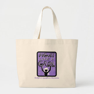 Fight Like A Girl Slogan Sign Hodgkin's Lymphoma Canvas Bags