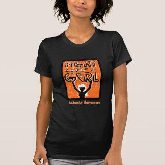 Fight Like A Girl Slogan Sign Leukemia Tshirt