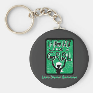 Fight Like A Girl Slogan Sign Liver Disease Key Chains