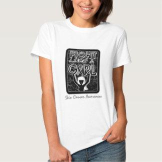 Fight Like A Girl Slogan Sign Skin Cancer T-shirt