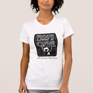 Fight Like A Girl Slogan Sign Skin Cancer Tee Shirt